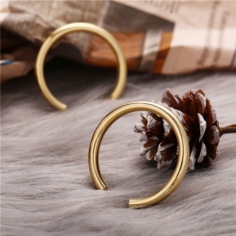 17KM Vintage Round Metal Earrings For Women Fashion Geometric Big Stud Earrings Cricle Gold Earring Female Gift 19 Jewelry 4