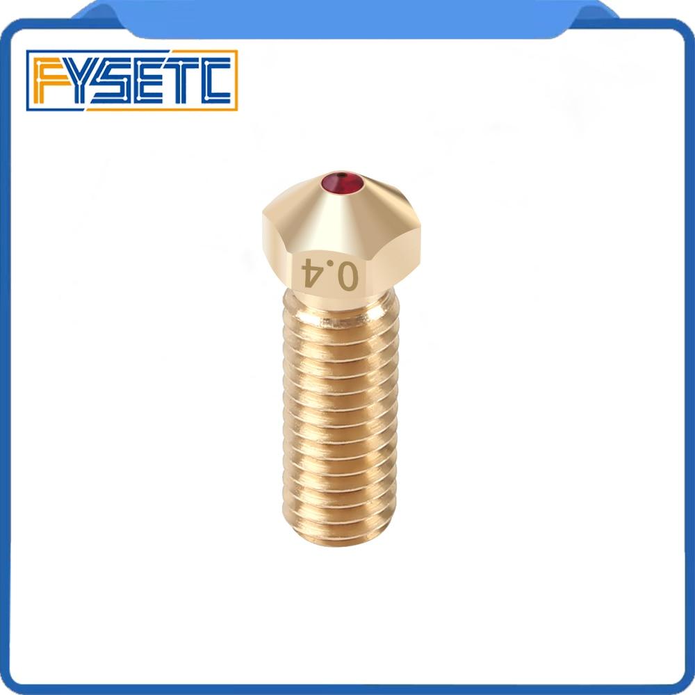 High Temperature  V6 Volcano Ruby Nozzle 0 4mm Nozzles Compatible PETG ABS PET PEEK NYLON For E3D Volcano Hotend 1 75mm Filament