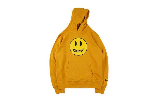 2019 Just Bieber Drew House Hailey Baldwin sourire visage imprimé femmes sweat-shirt à capuche pour hommes Hiphop Streetwear hommes pull à capuche