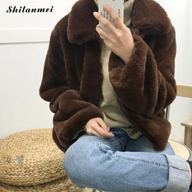 High Street Thick Ladies Outwear Plus Size Harajuku Faux Fur Coat Women Fashion Solid Green Cropped Fur Jacket Furry Winter Coat