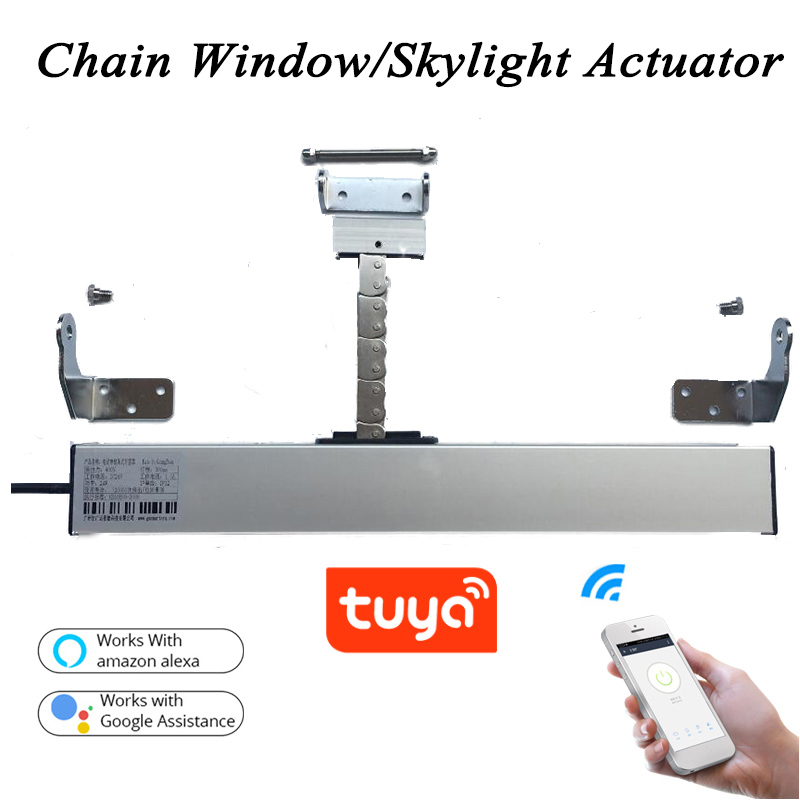 3 line AC220V Smart Wifi window opener Tuya Motorized Chain opener window Actuator Skylight casement Greenhouse Home automation
