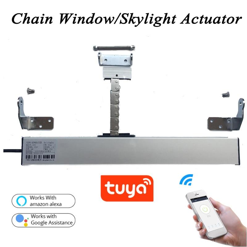 3 Line AC220V Smart Wifi Window Opener Tuya Motorized Chain Opener Window Actuator Skylight Casement Greenhouse Home Automation