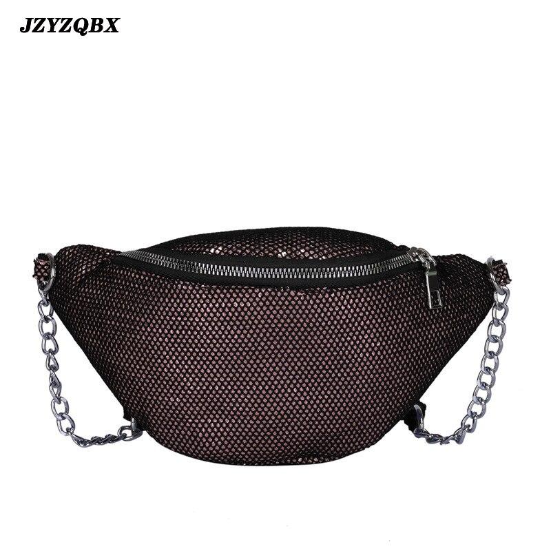 JZYZQBX Women Waist Pack Sequins Waist Bag Banana Bag Gradient Color Fanny Pack Women's Belt Bag Chest Bag Riñonera Mujer