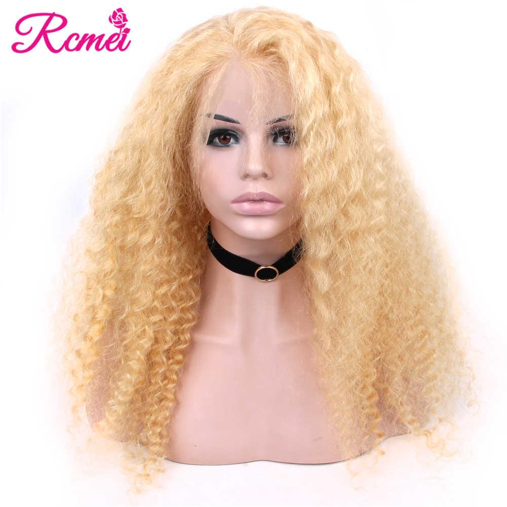 13x4 przezroczysty 613 blond koronkowa peruka na przód brazylijski głęboka koronkowa fala przodu ludzkich włosów peruki wstępnie oskubane z dzieckiem włosy 150% Remy