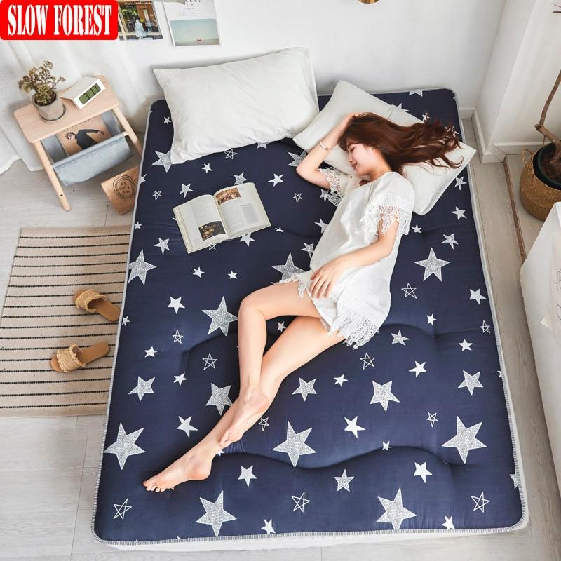 Slow Forest Thickening Mattress Tatami Mat Anti-skid Bedroom Furniture Student Dormitory Queen Matress
