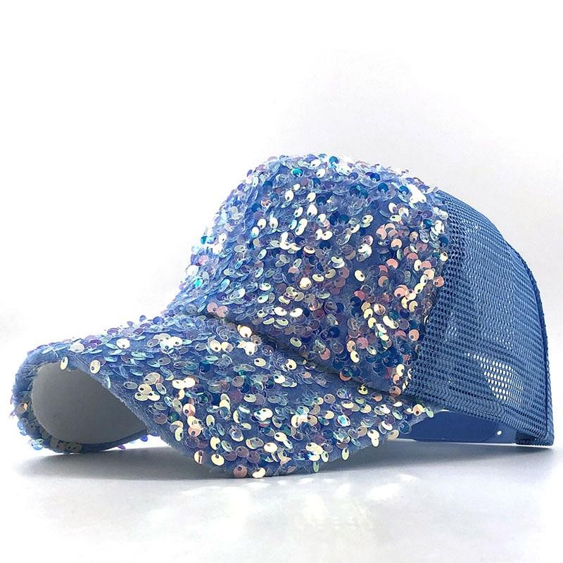 2020 NEW Pearl Sequins Baseball Cap For Women Summer Cotton Hat Girls Snapback Hip Hop Hat Gorras Casquette Bones Girl Party Hat
