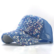 2020 NEW pearl Sequins Baseball Cap For Women Summer Cotton Hat Girls Snapback Hip hop hat Gorras Casquette Bones Girl Party hat summer female fashion baseball cap snapback hat for girl casquette gorras bone hip hop 5 panels free delivery