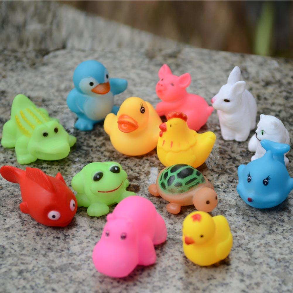 20 PCS Summer Babies' Bath Toy Play Squirter Vinyl Small Animal Shaped Squirter For Baby Bath Toy