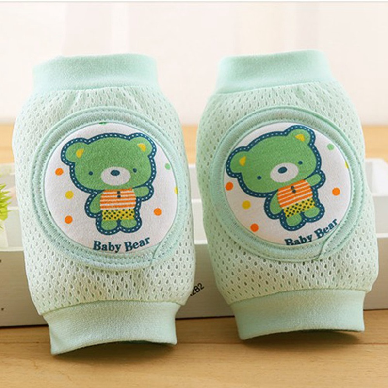 1Pair Infant Toddler Baby Crawling Knee Elbow Pad Mesh Cushion Safety Protection Breathable Leg Warmers Anti-fall Elbow Pads