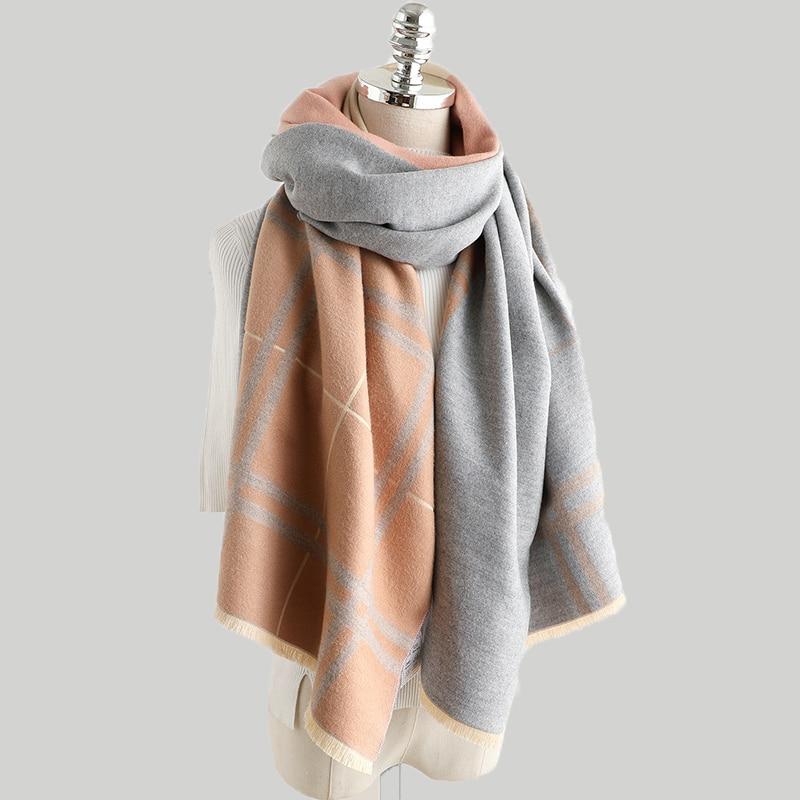 Palid Scarves Women 2019 New Cashmere Scarf Winter Thick Warm Shawl Wrap High Quality Pashmina Blanket Neck Scarfs Echarpe Femme