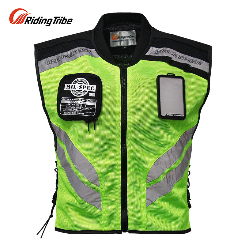Motorcycle Night Riding Clothing Reflective Vest Waistcoat Traveling By Motorcycle Riding Clothing Off-road Racing Suits Pro -Bi