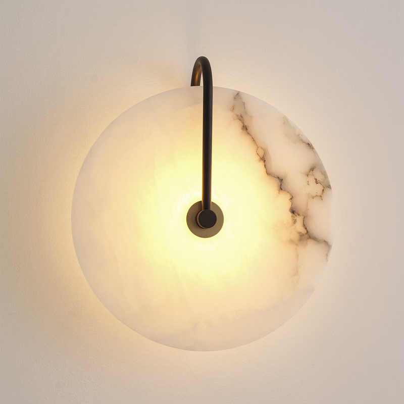 New Nordic Mordern Simple Wall Lamp Bedroom Beside Living Room Stairs Hotel Project Marble Wall Light for restaurant cafe Lights