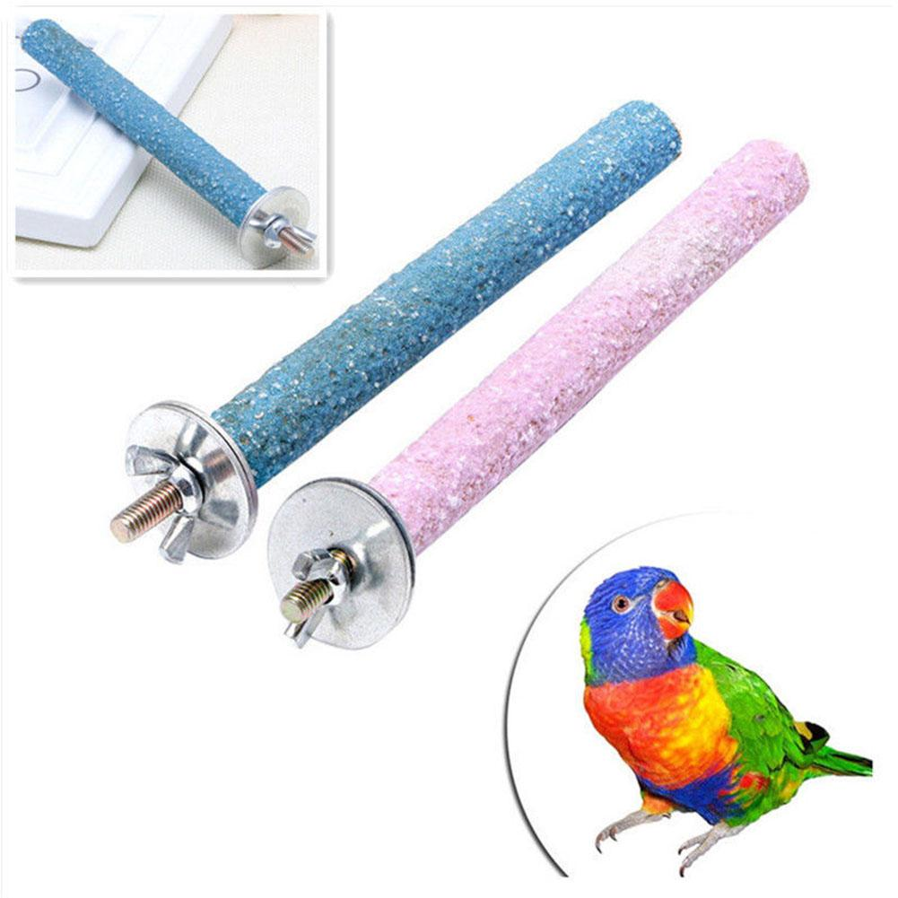 14CM Pet Parrot Budgie Chew Bite Paw Grinding Rod Toy Bird Cage Play Stand Perches Pet Supplies For Small Sized Birds