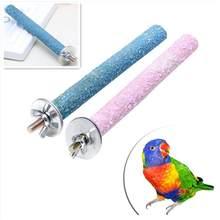 Mordedor de papagaio para animais, 14cm, mordedor de pata, brinquedo, gaiola de pássaros, suprimentos para animais de estimação, para pequenos tamanho de pássaros