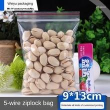 Ziplock Bag Small Transparent Plastic Bag Plastic Packaging Bag 9x13cm Thick 0.05mm PE Plastic Sealed Bag Food Bags100pcs