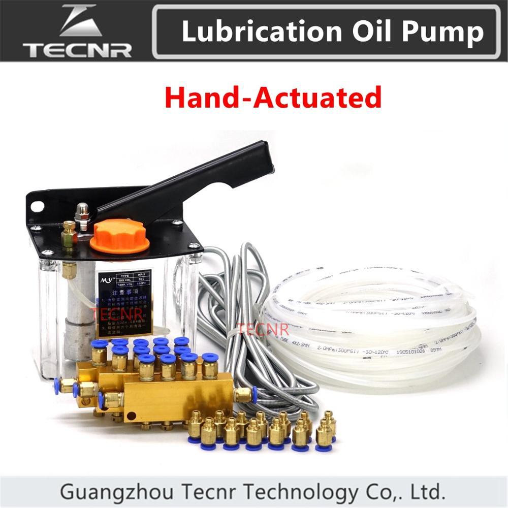 TECNR CNC ручной масляный насос для станка с ЧПУ система масляного насоса смазки