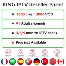 Титры с панелью управления для Франции IPTV арабский Испания Турция немецкий Великобритания скандинавские реселлеры франсаис IPTV приборная панель IPTV m3u