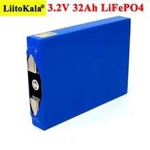 Liitokala 3.2V 32Ah akumulator LiFePO4 fosforan 32000mAh dla 12V 24V motocykl silnik samochodowy modyfikacja baterii + włącz nikiel