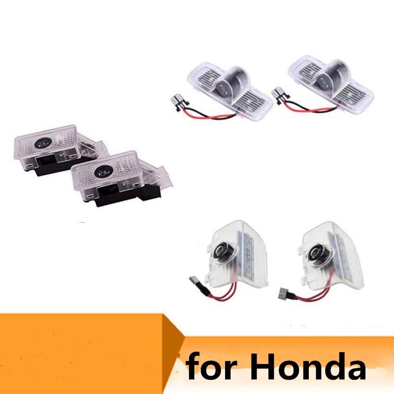 2x светодиодные двери автомобиля Добро пожаловать светильник лазерный проектор Ghost Shadow автомобильная лампа-проектор логотипа для Honda Odyssey ...