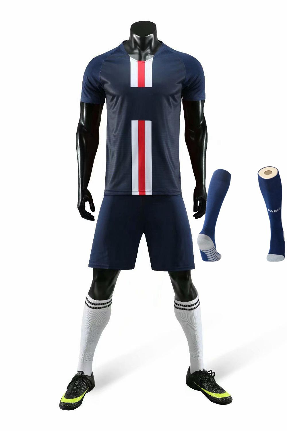 Children Sets football uniforms boys and girls sports kids youth training suits blank custom print soccer set with socks 26