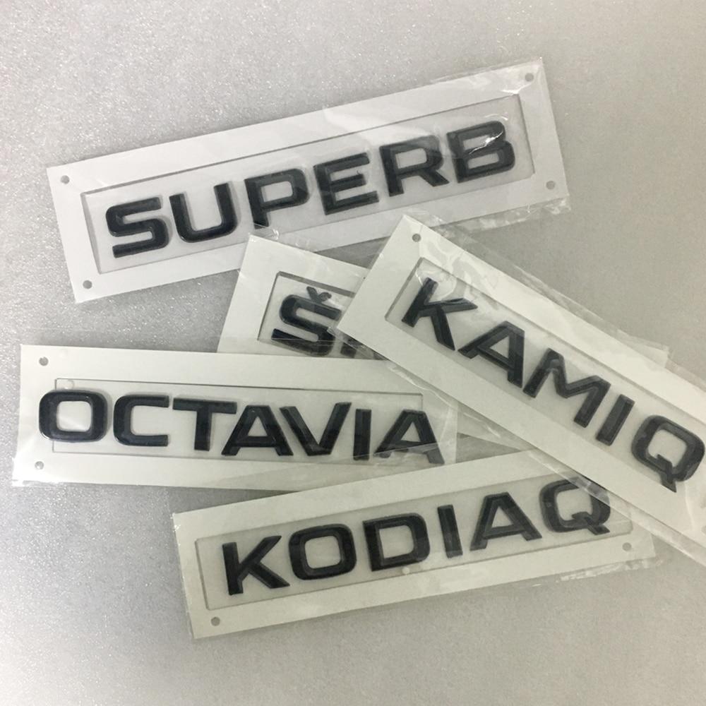Black Trunk Sticker Car Stickers and Decals For SKODA KODIAQ KAMIQ OCTAVIA SUPERB YETI FABIA RAPID SKODA Rear Tail Stickers