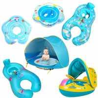 Anillo de natación plegable para bebé, Flotador para bebé, accesorios de piscina, inflable, balsa doble, juguete