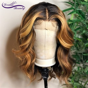 Image 1 - Highlight Lace Front Human Hair Wigs With Baby Hair 13*4/13*6 Remy Body Wave Lace Wig For Women