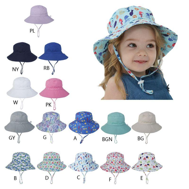 15 tipos 2020 novo verão chapéu de sol para crianças do bebê menino meninas crianças ao ar livre anti uv proteção praia tampas 6 meses acima
