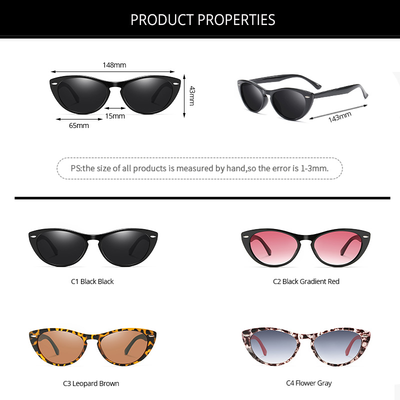 H7d276c6726d948d3bc52341e674652fef - Pro Acme Brand Design Vintage Cat Eye Polarized Sunglasses Women TR90 Frame Fashion Sun Glasses Shades for Women PC1552