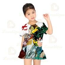 Летнее платье высокого качества для девочек с коротким рукавом