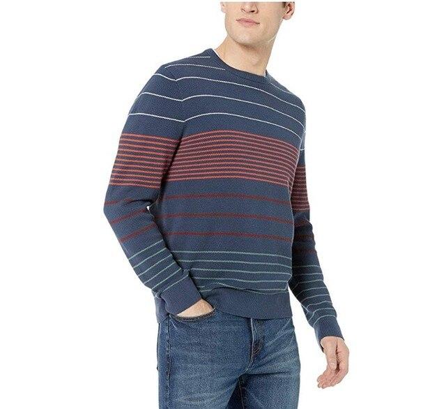 2019 Fall Winter Men Merino Wool Sweater Thick Warm Pullovers Crew Neck Merino Wool Sweater Pull Homme European Size S 2XL