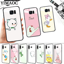 Best Friend Girlfriend Boyfriend Glass Case for Samsung S7 Edge S8 S9 S10 Plus S10E Note 8 9 10 A10 A30 A40 A50 A60 A70 стоимость