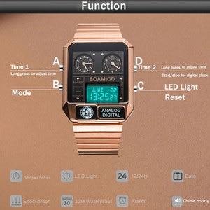 Image 5 - BOAMIGO top brand luxury men sports watches man fashion digital analog LED watches  square quartz wristwatches relogio masculino