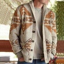 2020 повседневные пальто мужские свитер кардиган длинный рукав однобортный трикотажный пальто трикотаж осень зима одежда удобные