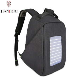 TIANHOO High quality Solar  Backpacks Men's Charge Anti-theft Computer Backpack Waterproof Travel Large Capacity School Bags 1