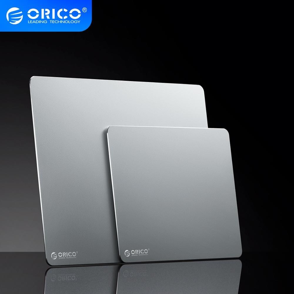 Металлический алюминиевый коврик для мыши ORICO, Жесткий Гладкий тонкий коврик для мыши для компьютерных игр, двухсторонний Водонепрони…