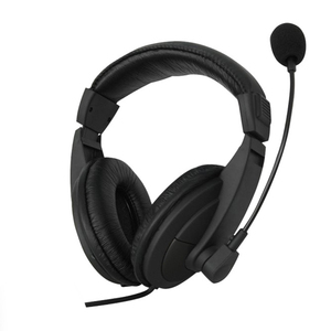 Black 3.5mm Microphone Adjustable Headband Wired Stereo Headset Noise Cancelling Earphone For Computer Laptop Desktop