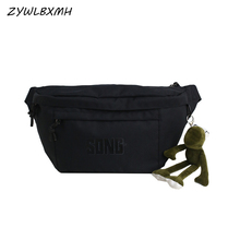 ZYWLBXMH Men's Women Waist Packs Oxford Cloth Bag Banana Solid Color Belt Cartoon Pendant Fanny Pack Chest sac