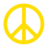 Peace Sign Symbol Car Vehicle Body Window Reflective Decals Sticker Decoration Car Exterior Accessories 2019 New Funny Sign 6