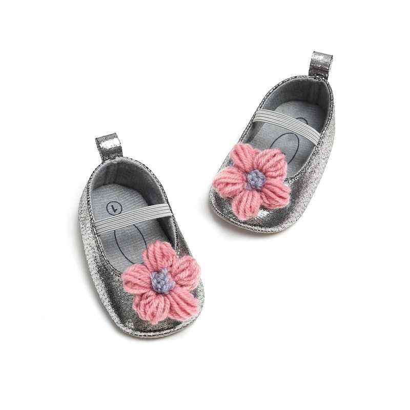 1 çift Bebek Kız Ayakkabı Güzel Çiçek PU deri ayakkabı Kaymaz Sneakers Çocuklar Yumuşak Taban bebek ayakkabısı Prenses Ayakkabı 0 -12 ay