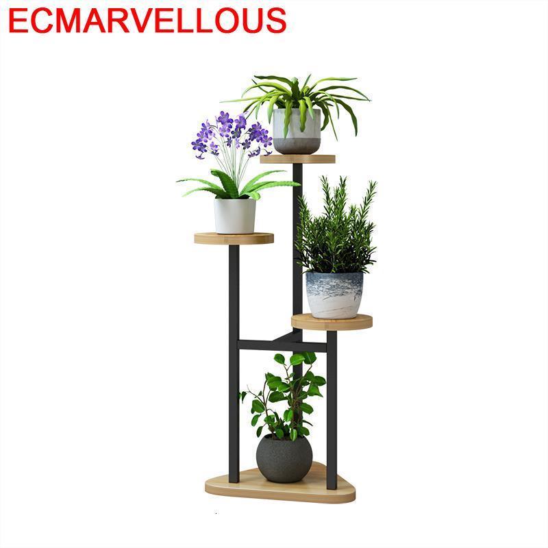 Plantas Wood Indoor Rak Bunga Plantenrekken Etagere Plante Varanda Dekoration Shelf Stojak Na Kwiaty Outdoor Flower Plant Stand