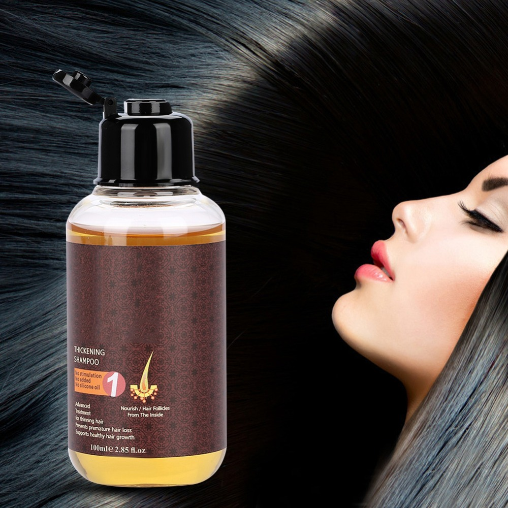 100ml Professional Hair Care Thickening Shampoo Hair Growth Strenghten Prevent Hair Accelerator Prevents Hair From Falling Off image