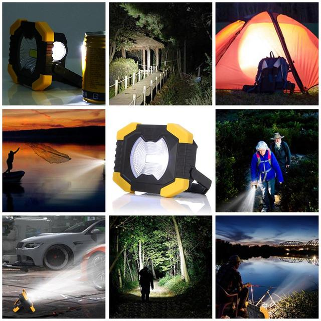 100W Led Portable Spotlight 8000lm Super Bright Led Work Light Rechargeable for Outdoor Camping Lampe Led Flashlight 6