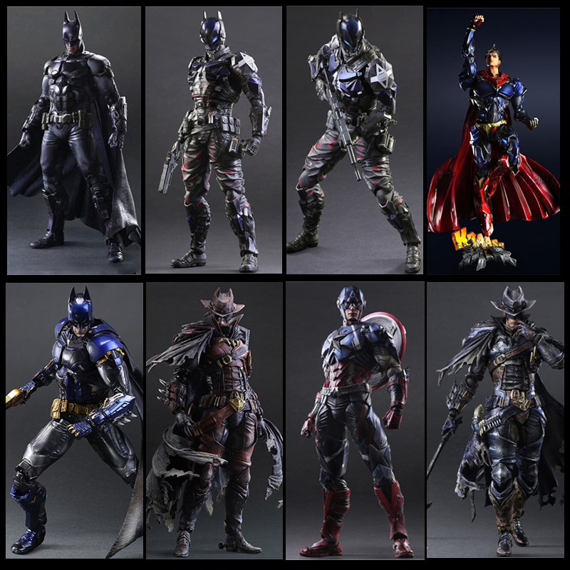 Movie Avengers Play Art Kai Action Figures Captain American Siperman Ironman Batman Black Widow X-men The Flash Figures Toy Doll