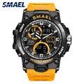 SMAEL 2019 военные часы мужские водонепроницаемые 50 м Хронограф Будильник наручные часы винтажные классические цифровые спортивные часы 8011