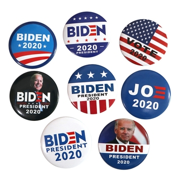 Funny American Presidential Election Pattern Brooches Joe Biden And Kamala Harris Campaign Buttons Tinplate Election Badge image