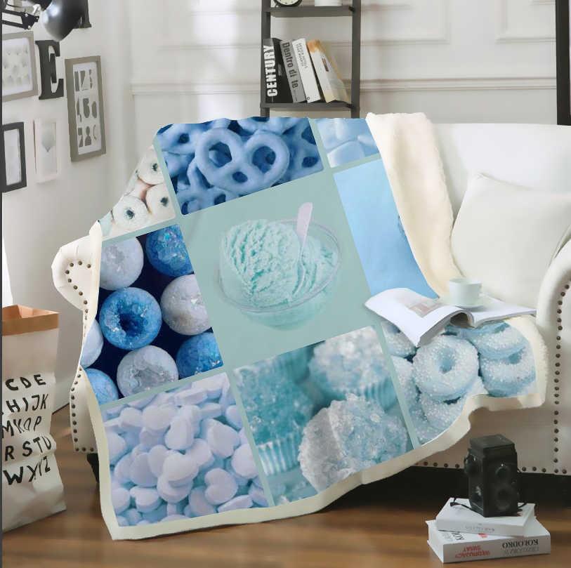 Sonspee 3d impressão azul billie eilish estético colcha lance cobertor sofá cama cadeira resto decoração da casa para adultos crianças b23