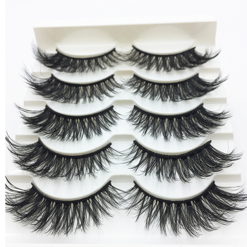 LTWEGO 5 pairs faux 3d mink lashes fluffy wispy false eyelashes natural long eyelash extension makeup handmade fake lash 3D-21 Beauty & Health