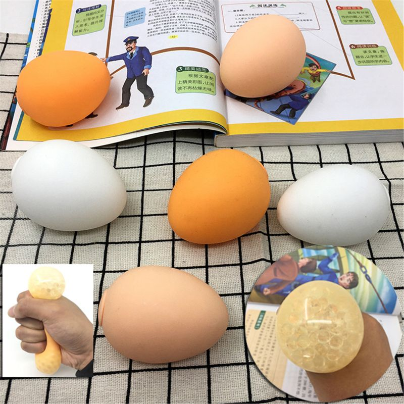 Simulation Egg Stress Ball Prank Joke Toy Stress Relief Squeeze Toy Antistress Ball