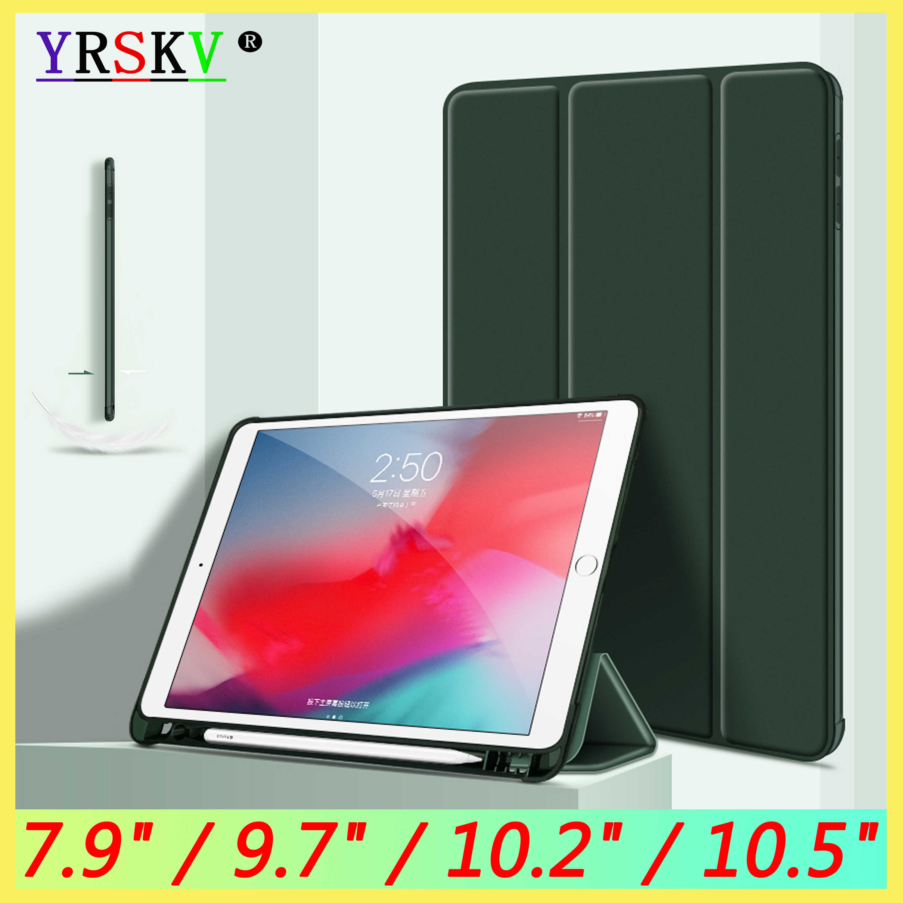 Case For Ipad Pro 10 2 10 5 Inch With Pencil Holder Funda For Ipad 5th 6th Generation For Ipad Air 3 2 1 Mini 4 5 Case Cover Tablets E Books Case Aliexpress